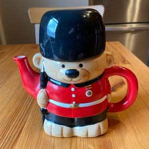 Teapot - Christmas Toy Soldier Bear